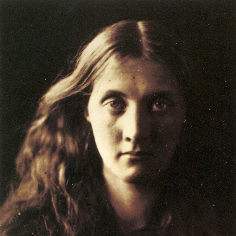 My niece Julia full face, by Julia Margaret Cameron
